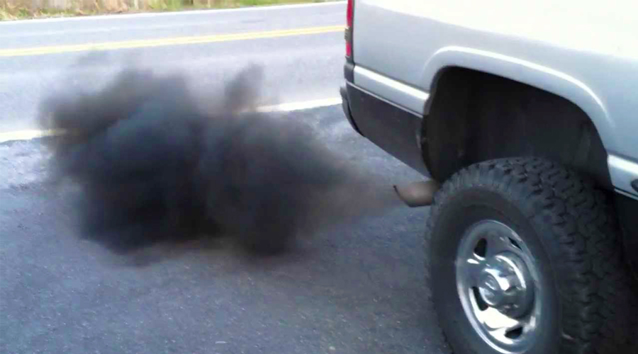 car blowing smoke