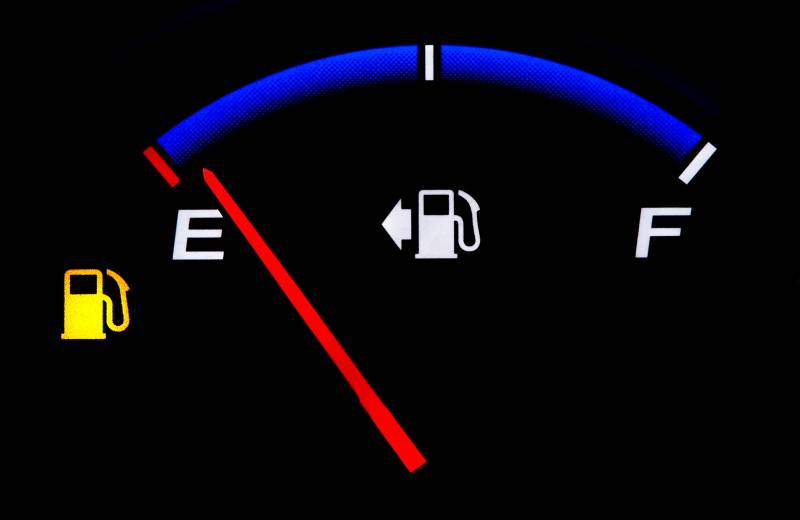 Can driving on low fuel with the petrol light on damage your car?