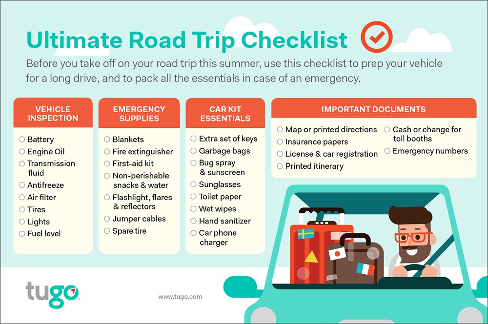 road trip car checklist